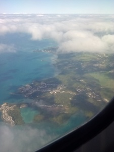 Flying over St-Thomas
