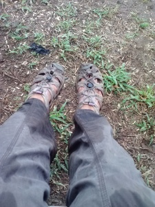 Muddy, wet feet